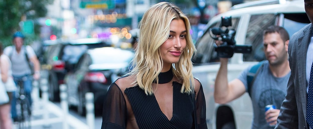 Hailey Baldwin's Sheer Top Might Land Her a Pair of Victoria's Secret Angel Wings