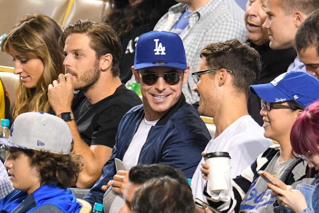 Zac Efron at LA Dodgers Game August 2016