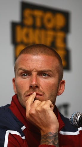 Sugar Bits — David Beckham Joins Call To End Knife Crime