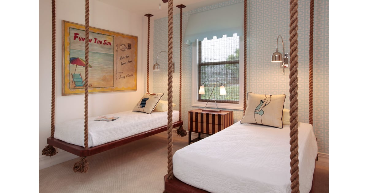 Hoist your bed up by mounting it to the ceiling Create Space in