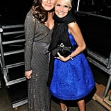 She posed with her fellow Broadway star Kristin Chenoweth at a February 2011 musical tribute to Barbra Streisand in LA.