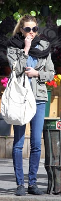 Whitney Port Wears Charlotte Ronson Army Jacket in NYC