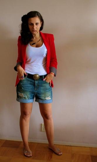 red blazer look 3