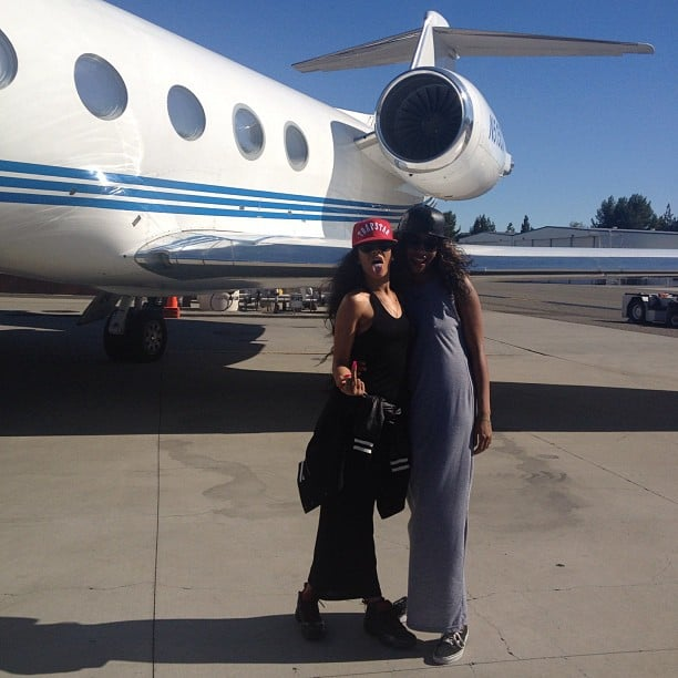 Rihanna showed off her ride by tweeting this picture with a friend. Source: Instagram user badgalriri