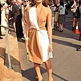 Eva Mendes stepped out for Salvatore Ferragamo's resort show in NYC.