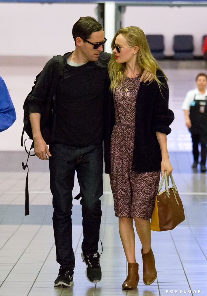Kate Bosworth and Michael Polish showed PDA at the airport.