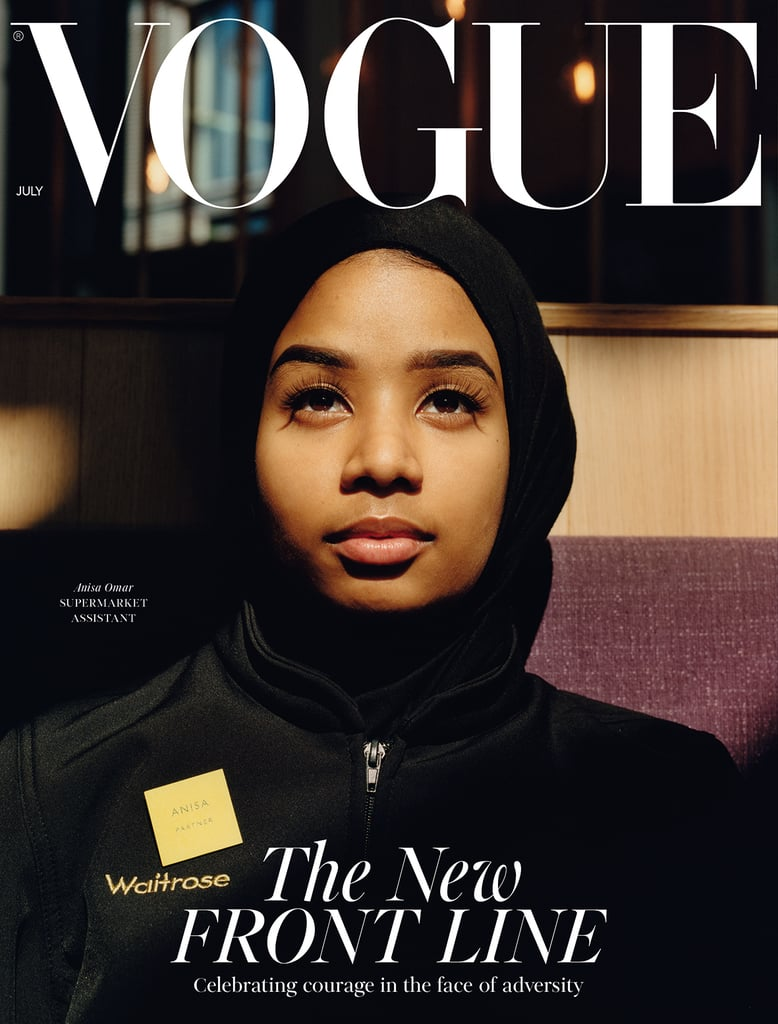 Anisa Omar on the British Vogue July 2020 Cover