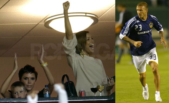 Photos of David Beckham, Eva Longoria and Victoria Beckham During LA Galaxy's Victory Against DC United