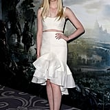 Elle Fanning at the Maleficent photocall in London.