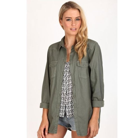 A shirt is a more off-duty alternative to a brass-buttoned coat or anorak. Plus an army shirt is (like your trusty denim shirt) super versatile. Wear open, tucked in or button up.  Shirt, $39.95, Cotton On