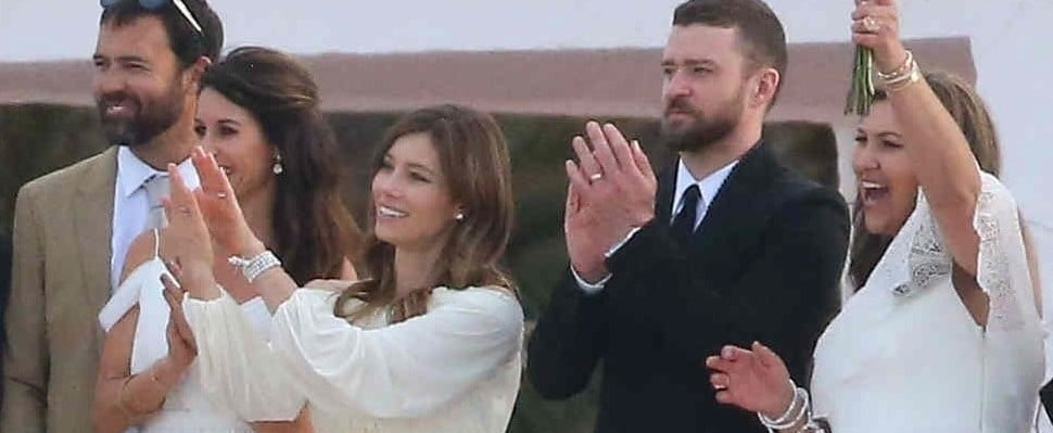 Justin Timberlake and Jessica Biel at Her Brother's Wedding