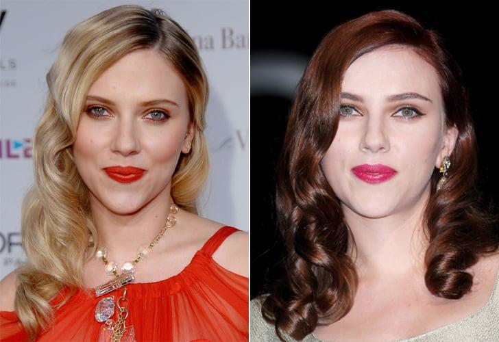 Scarlett Johansson: Blonde to red.