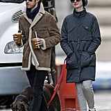 Anne Hathaway and Adam Shulman Bundle Up as Award Season Begins