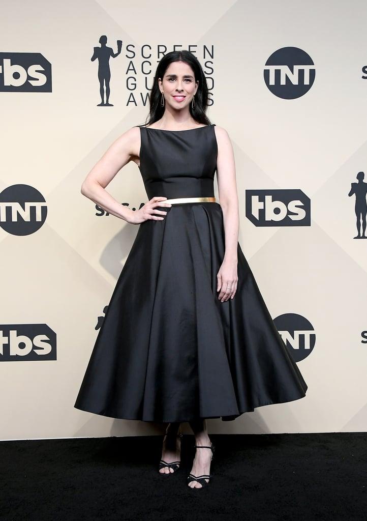 Sarah Silverman Sag Awards Red Carpet Dresses 2018 Popsugar