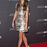 Alicia wore a sparkly Louis Vuitton dress to the Jason Bourne premiere in Paris.