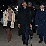 The Obama Family Flying to Hawaii