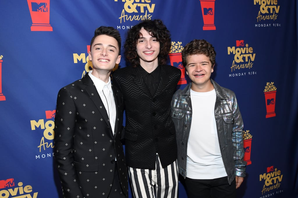 Noah Schnapp, Finn Wolfhard, and Gaten Matarazzo at the 2019 MTV Movie and TV Awards