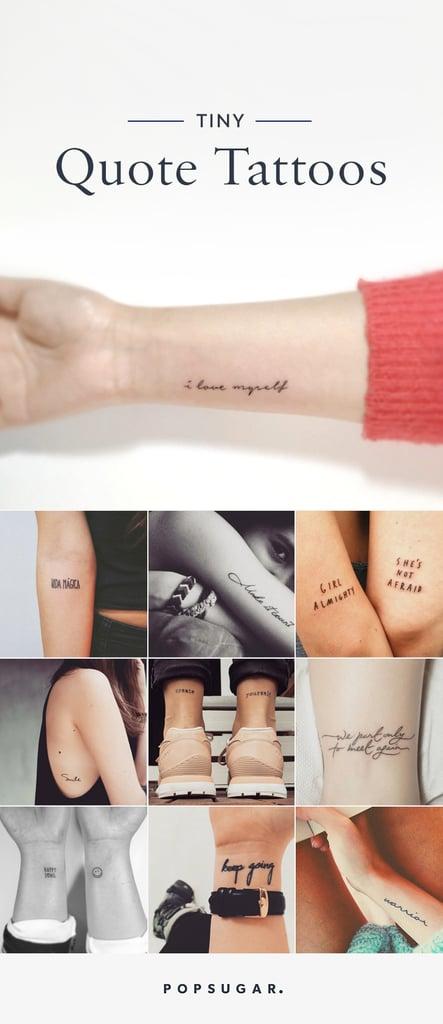 Small Quote Tattoos | POPSUGAR Smart Living