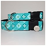 Teal Plaid Dog Collar ($20)