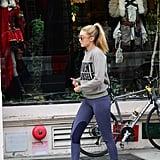 Wearing Nike Lunar Flyknits.