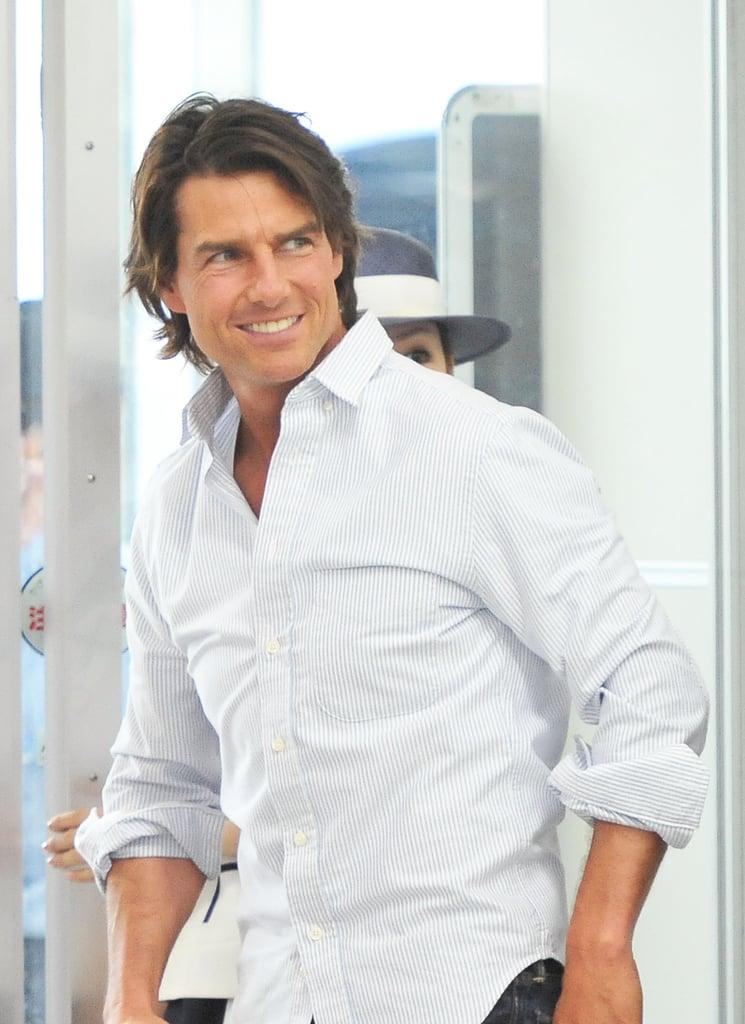 Tom Cruise Arriving in Japan