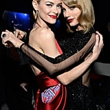 . . . Taylor Swift! Jaime announced the exciting news in an adorable snap on Instagram, featuring the singer touching Jaime's growing baby bump. Taylor has since had lots of sweet bonding moments with Leo Thames Newman, who was born in July 2015.  Keep reading for more popular musician who happens to be godparents.