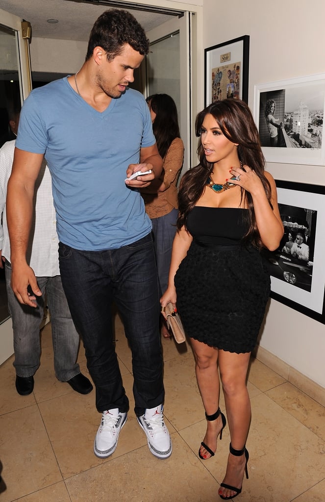 Kris Humphries escorted Kim Kardashian to her latest public appearance.