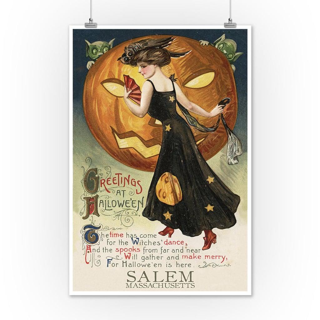Witches Dance Halloween 2020 Salem Massachusetts Halloween Witch Dance poster   Vintage
