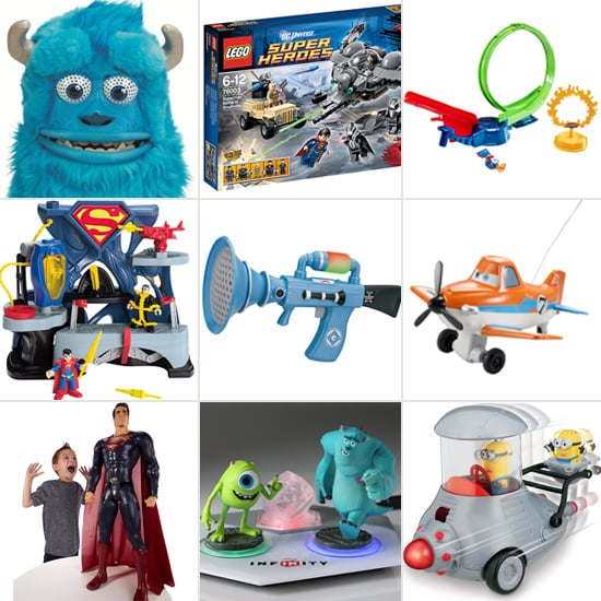 Monsters University, Superman, and Despicable Me Toys