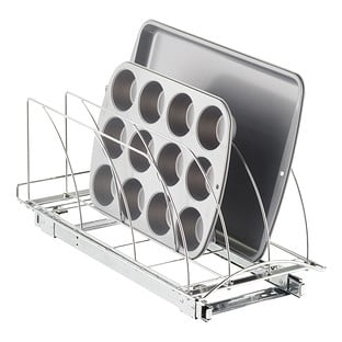 "Lynk 21"" Chrome Pull-Out Bakeware Organizer"