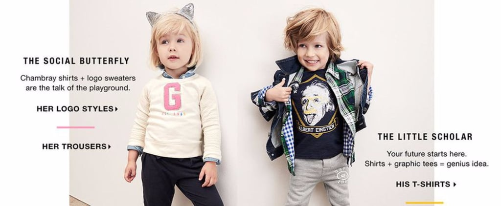 According to This Gap Kids Ad, Girls Are Social Butterflies and Boys Are Little Scholars