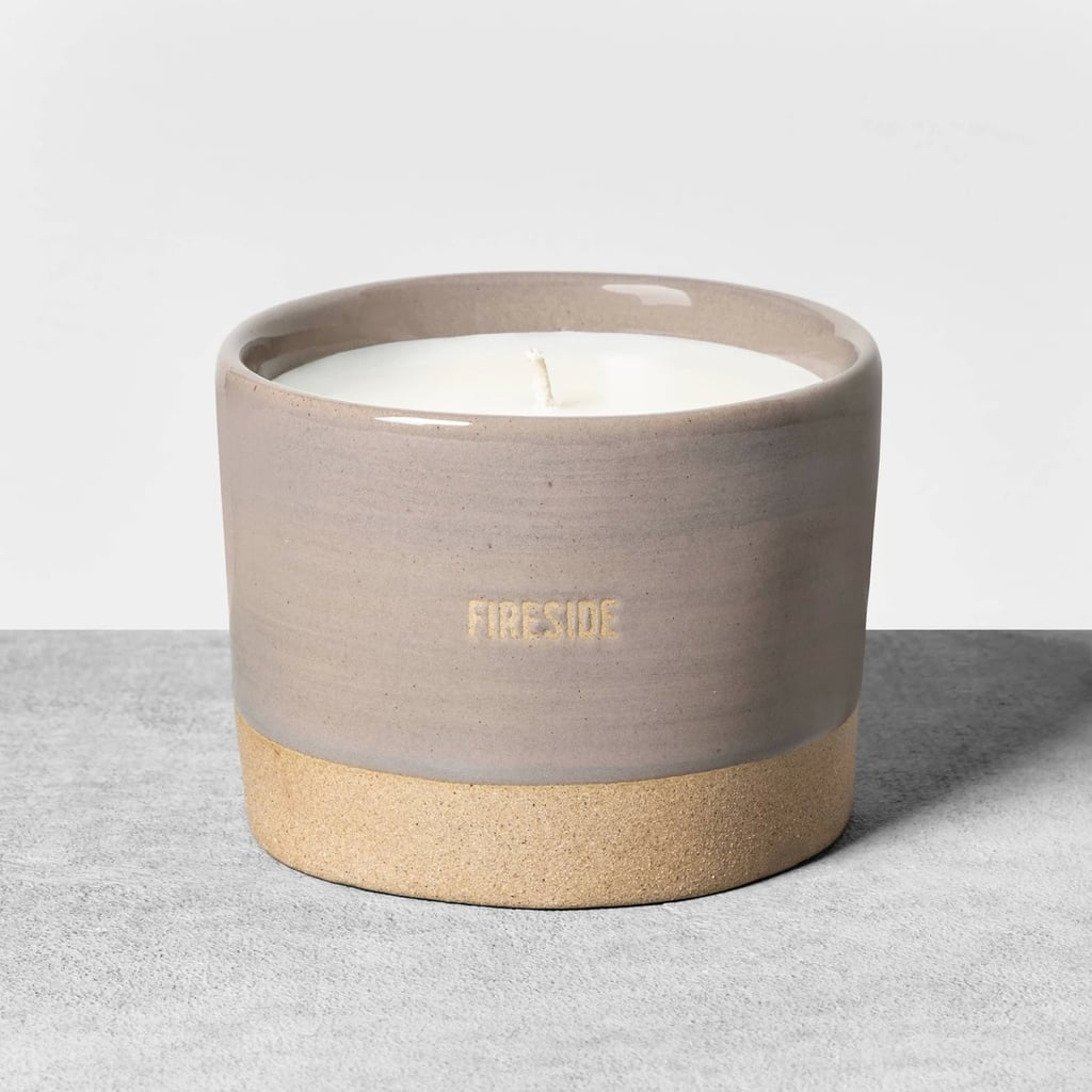 Reactive Glaze Ceramic Container Candle in Fireside