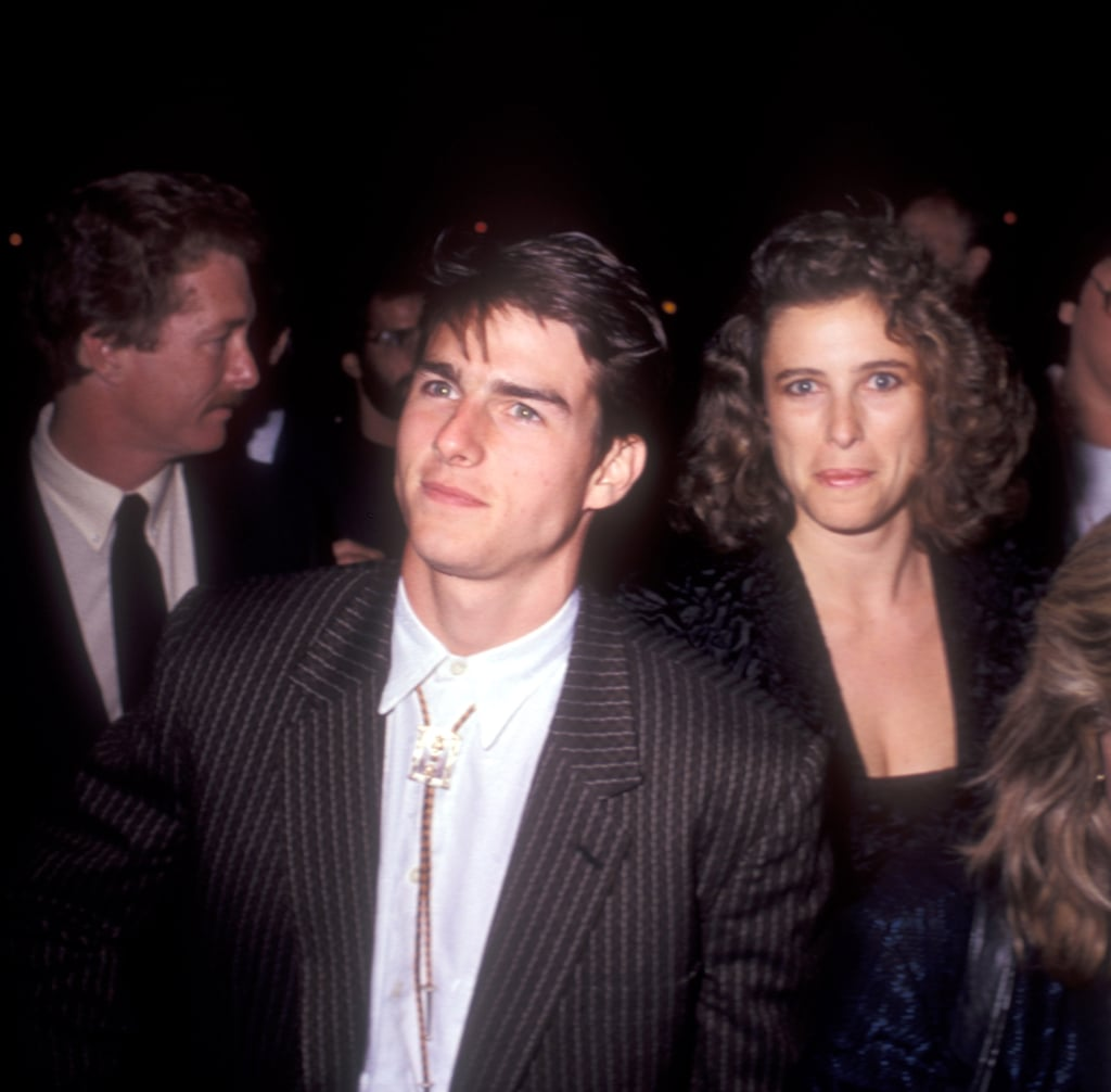 Tom Cruise wore a striped suit to The Color of Money premiere in LA in October 1986.