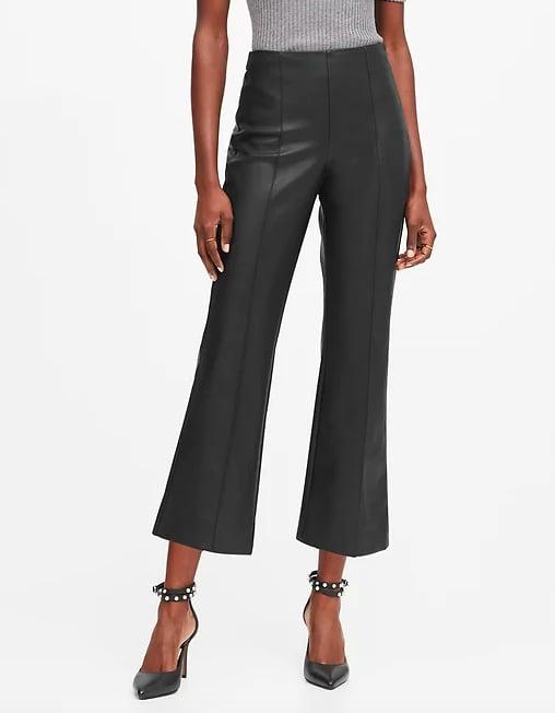 Vegan Leather Crop Flare Pant