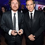 Ben Stiller posed with singer Damien Rice at the Haiti: Carnival in Cannes event.