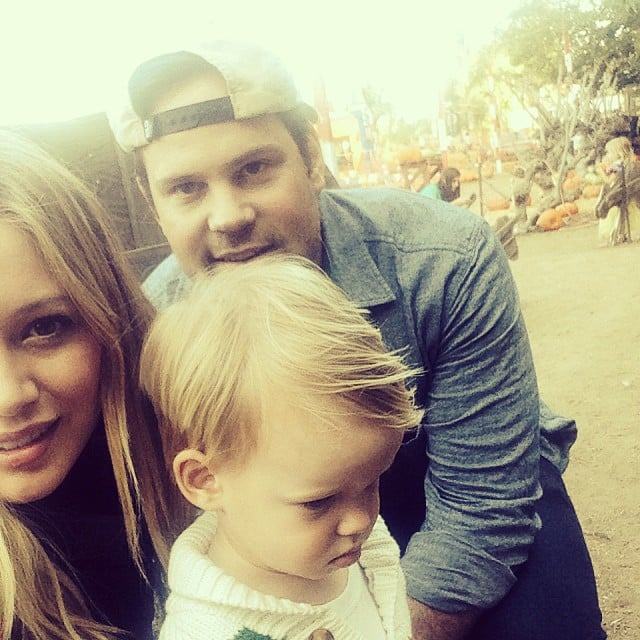 Hilary Duff spent a sweet day with her family at the pumpkin patch. Source: Instagram user hilaryduff