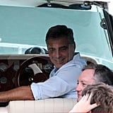 George Clooney on a boat.