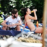 Pictures of James Buckley and His Girlfriend in a Bikini on the Beach in Barbados