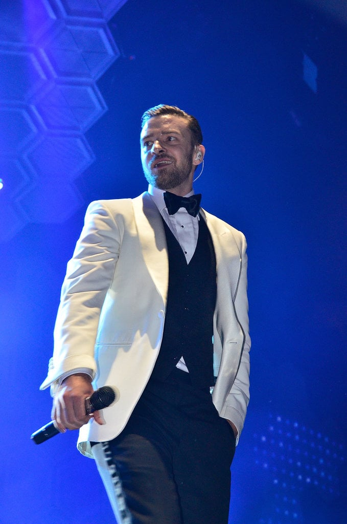 Justin Timberlake kicked off his The 20/20 Experience world tour in a wardrobe comprised entirely of Tom Ford — all 600 pieces of it!