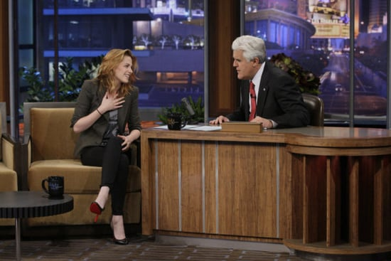 Pictures and Video of Kristen Stewart on The Tonight Show With Jay Leno 10/08/10 2010-10-09 02:00:00