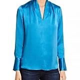 Shop Jen's Exact Blue Silk Blouse