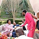 JAY-Z, Juan Perez, Diddy, Meek Mill, and Tyran Smith at the 2020 Roc Nation Brunch in LA