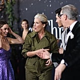 Emilia Clarke, Emma Thompson, Henry Golding, and Paul Feig at the Last Christmas Premiere