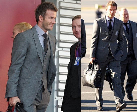 Pictures of David Beckham and England Squad Arriving in South Africa for World Cup