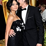 Zac gave Vanessa a sweet kiss on the head at the Oscars in February 2009.
