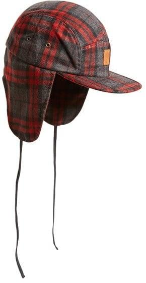 Ear Flap Plaid Hat