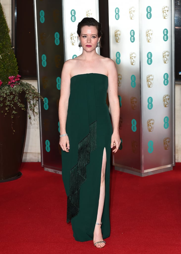 Claire Foy Wearing Jimmy Choo Shiloh Sandals