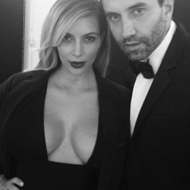 Kim Kardashian attended a fashion event in Paris on the arm of Givenchy designer Riccardo Tisci. Source: Instagram user kimkardashian