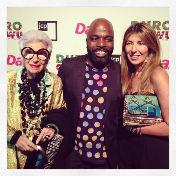 Nina Garcia posed with Iris Apfel and Duro Olowu at the designer's JCPenney capsule collection launch. Source: Twitter user ninagarcia