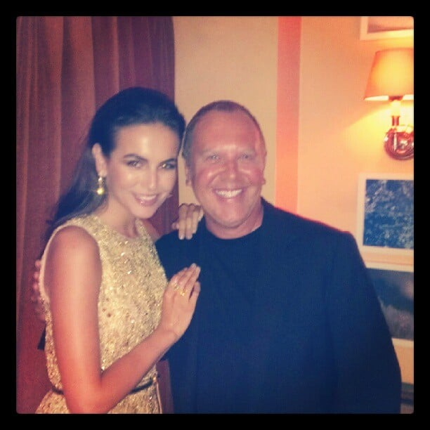 Camille Belle looked glamourous posing with designer Michael Kors. Source: Instagram user camillabelle86